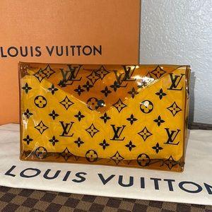 Authentic Louis Vuitton pvc beach pouch clutch bag